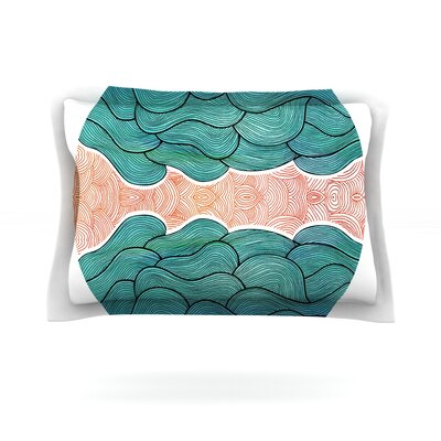Ocean Flow by Pom Graphic Design Featherweight Pillow Sham Size: King, Fabric: Cotton