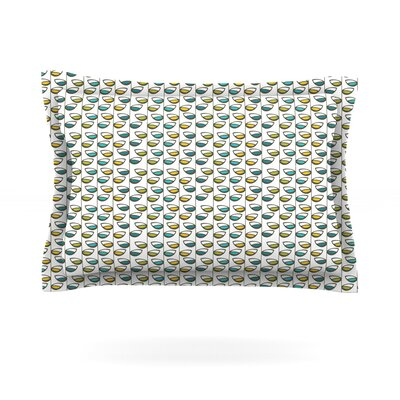 Spring Stem by Julie Hamilton Featherweight Pillow Sham Size: Queen, Fabric: Cotton