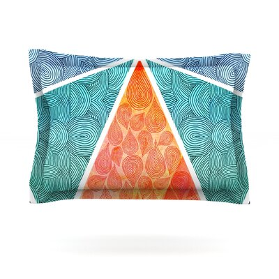 Pyramids of Giza by Pom Graphic Design Featherweight Pillow Sham Size: King, Fabric: Cotton