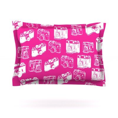 Camera Pattern Featherweight Pillow Sham Size: Queen