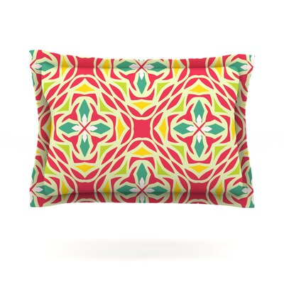 Christmas Carnival by Miranda Mol Featherweight Pillow Sham Size: King, Fabric: Cotton