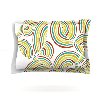 Rainbow Sky by Pom Graphic Design Featherweight Pillow Sham Size: Queen, Fabric: Cotton