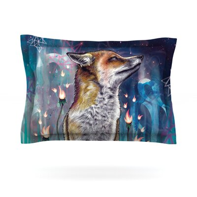 There is a Light by Mat Miller Featherweight Pillow Sham Size: King, Fabric: Cotton