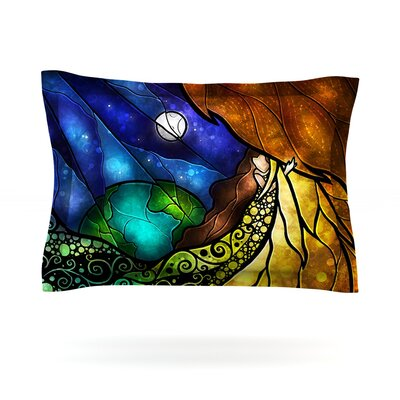 Psalms by Mandie Manzano Featherweight Pillow Sham Size: King, Fabric: Cotton