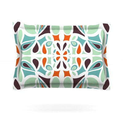 Orange Purple Stained Glass by Miranda Mol Featherweight Pillow Sham Size: Queen, Fabric: Cotton