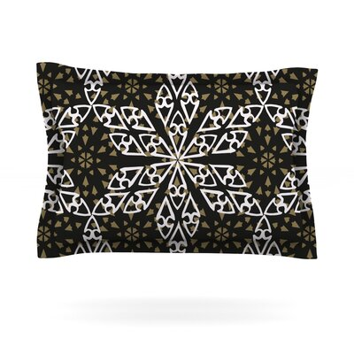 Ethnical Snowflakes by Miranda Mol Featherweight Pillow Sham Size: Queen, Fabric: Cotton
