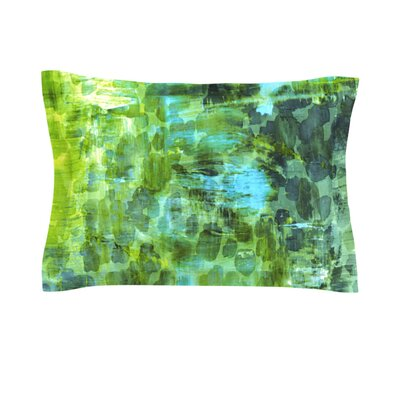 Pastel Jungle II by Ebi Emporium Featherweight Pillow Sham Size: Queen, Fabric: Cotton