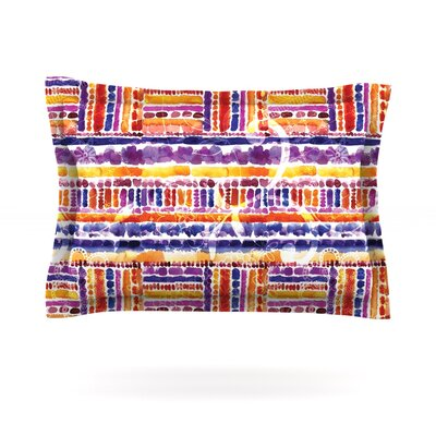 Tribal by Louise Machado Featherweight Pillow Sham Size: King, Fabric: Cotton