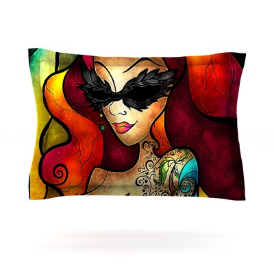 Lips Like Morphine by Mandie Manzano Featherweight Pillow Sham Size: King, Fabric: Cotton
