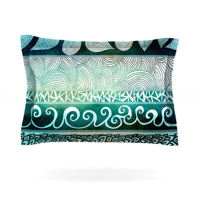 Dreamy Tribal by Pom Graphic Design Featherweight Pillow Sham Size: King, Fabric: Cotton