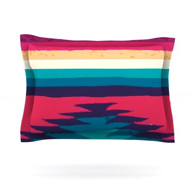 Surf by Nika Martinez Featherweight Pillow Sham Size: Queen, Fabric: Cotton