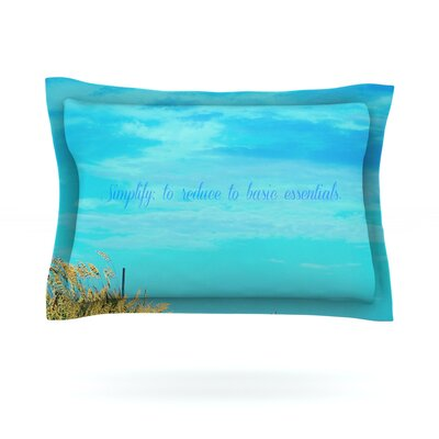 Simplify by Robin Dickinson Featherweight Pillow Sham Size: King, Fabric: Cotton