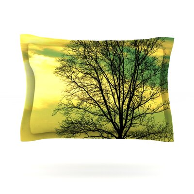 Tree Sky by Robin Dickinson Featherweight Pillow Sham Size: Queen, Fabric: Cotton