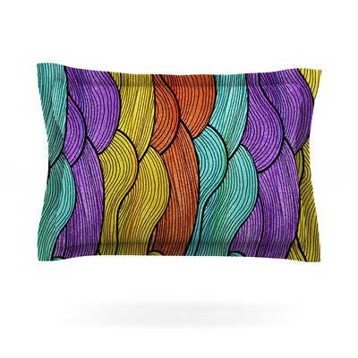 Textiles by Pom Graphic Design Featherweight Pillow Sham Size: Queen, Fabric: Cotton