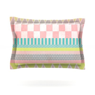 Luna by Louise Machado Featherweight Pillow Sham Size: Queen, Fabric: Cotton