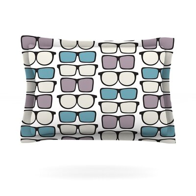 Spectacles Geek Chic by Michelle Drew Featherweight Pillow Sham Size: Queen, Fabric: Cotton