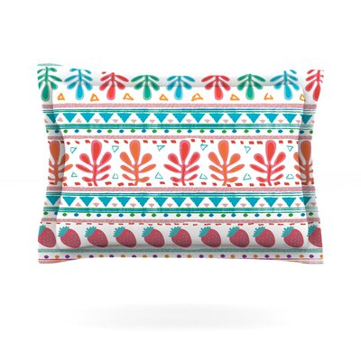 Spring Strawberries by Nika Martinez Featherweight Pillow Sham Size: King, Fabric: Cotton