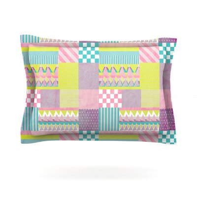 Patchwork by Louise Machado Featherweight Pillow Sham Size: Queen, Fabric: Cotton