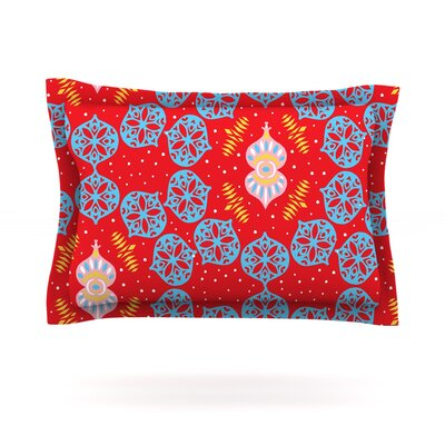 Frosted Red by Miranda Mol Featherweight Pillow Sham Size: King, Fabric: Cotton