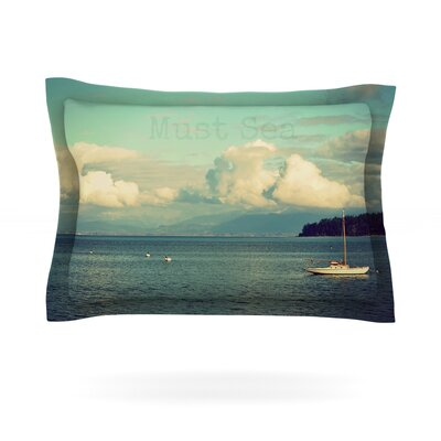 Must Sea by Robin Dickinson Featherweight Pillow Sham Size: Queen, Fabric: Cotton