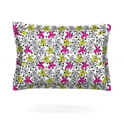 Floral Spread by Nandita Singh Featherweight Pillow Sham Size: King, Fabric: Cotton