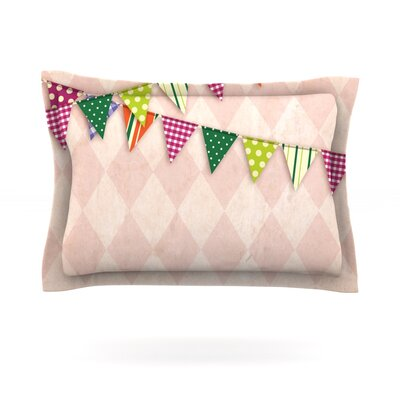 Flags 2 Featherweight Pillow Sham Size: King, Fabric: Cotton