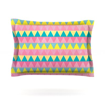 Triangles by Louise Machado Featherweight Pillow Sham Size: Queen, Fabric: Cotton