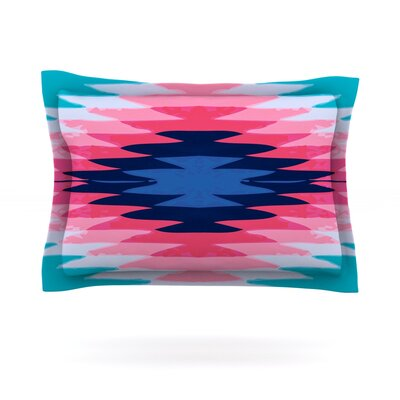 Surf Lovin II by Nika Martinez Featherweight Pillow Sham Size: Queen, Fabric: Cotton