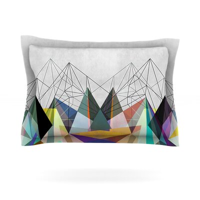 Mareike Boehmer Colorflash 3X Grey Rainbow Featherweight Sham Size: King, Fabric: Cotton