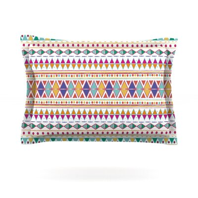Native Fiesta by Nika Martinez Featherweight Pillow Sham Size: King, Fabric: Cotton
