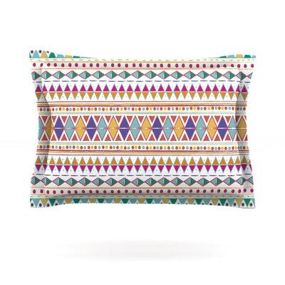 Native Fiesta by Nika Martinez Featherweight Pillow Sham Size: Queen, Fabric: Cotton