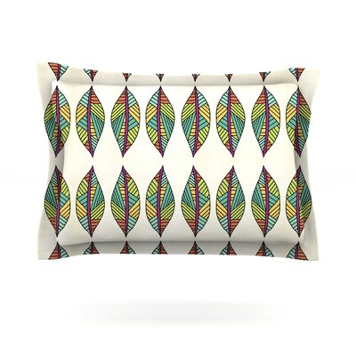 Tribal Leaves by Pom Graphic Design Pillow Sham Size: King, Fabric: Woven Polyester