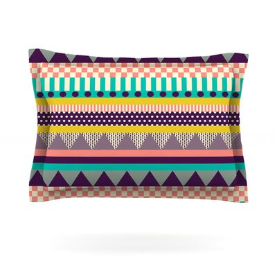 Decorative Stripes by Louise Machado Featherweight Pillow Sham Size: Queen, Fabric: Cotton