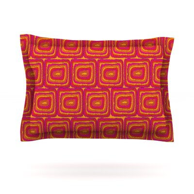 Bright Squares by Nandita Singh Featherweight Pillow Sham Size: Queen, Fabric: Cotton