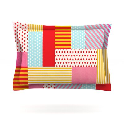 Geometric Pop by Louise Machado Featherweight Pillow Sham Size: Queen, Fabric: Cotton