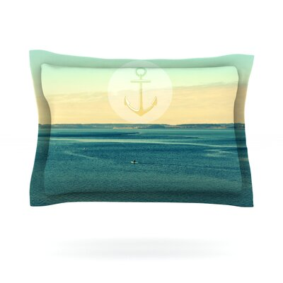 Row Your Own Boat by Robin Dickinson Featherweight Pillow Sham Size: King, Fabric: Cotton