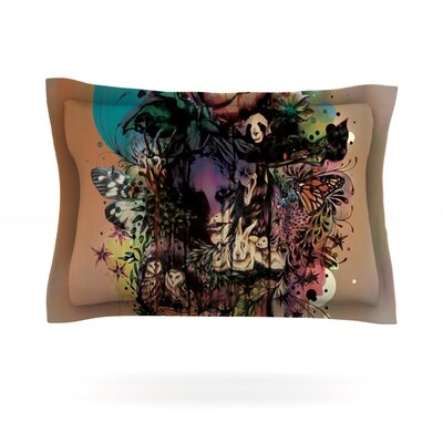 Doom and Bloom by Mat Miller Featherweight Pillow Sham Size: Queen, Fabric: Cotton