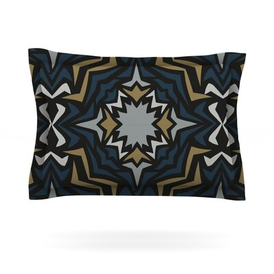 Winter Fractals by Miranda Mol Featherweight Pillow Sham Size: King, Fabric: Cotton