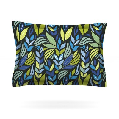 Underwater Bouquet Night by Michelle Drew Featherweight Pillow Sham Size: Queen, Color: Black, Fabric: Cotton