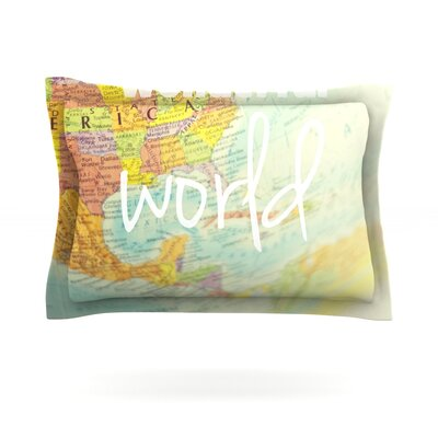What a Wonderful World by Libertad Leal Featherweight Pillow Sham Size: King, Fabric: Cotton