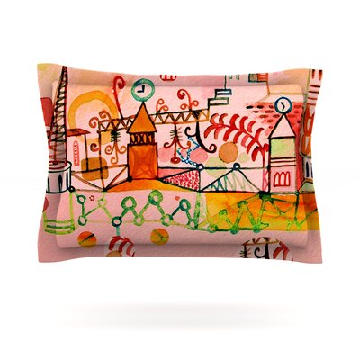 Happy Town by Marianna Tankelevich Featherweight Pillow Sham Size: Queen, Fabric: Cotton