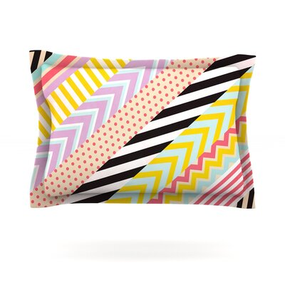 Diagonal Tape by Louise Machado Featherweight Pillow Sham Size: Queen, Fabric: Cotton