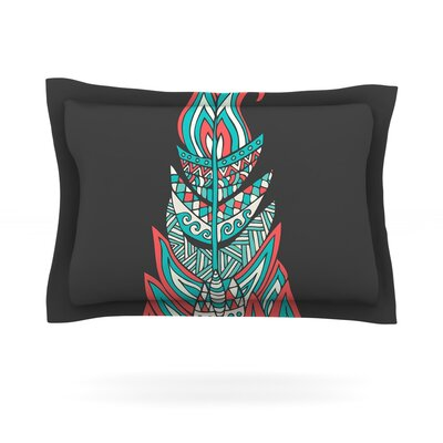 A Romantic Feather by Pom Graphic Design Featherweight Pillow Sham Size: King, Fabric: Cotton