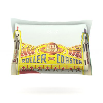 Life is a Rollercoaster by Libertad Leal Featherweight Pillow Sham Size: King, Fabric: Cotton