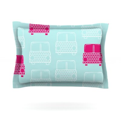 Beep Beep by Michelle Drew Featherweight Pillow Sham Size: Queen, Fabric: Cotton