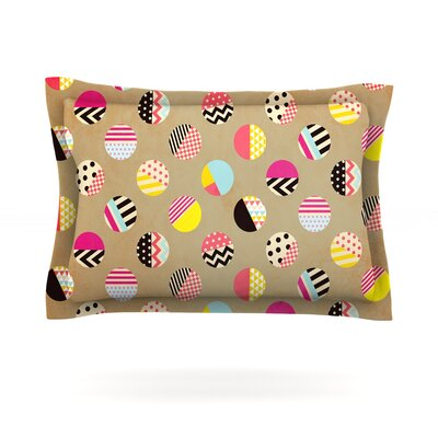 Fun Circle by Louise Machado Featherweight Pillow Sham Size: Queen, Fabric: Cotton