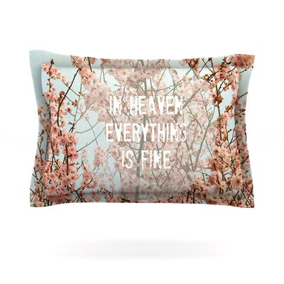 In Heaven by Robin Dickinson Featherweight Pillow Sham Size: Queen, Fabric: Cotton