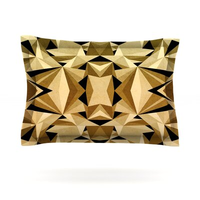 Abstraction by Nika Martinez Featherweight Pillow Sham Size: King, Color: Gold/Black