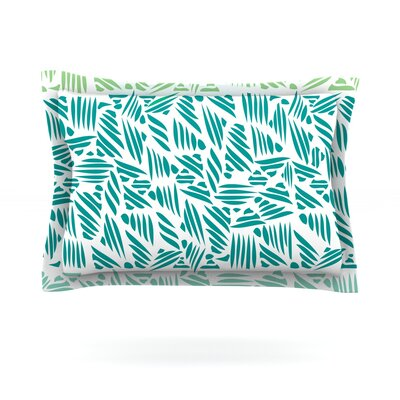 Bamboo Pom Graphic Design Featherweight Pillow Sham Size: King, Fabric: Cotton