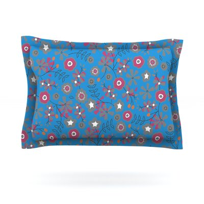 Meadow by Michelle Drew Featherweight Pillow Sham Size: King, Fabric: Cotton